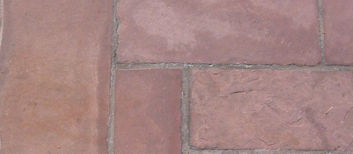 stone, sandstone, red, paving, ashlar